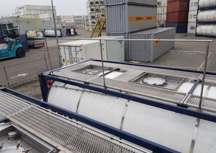 handrails tankcontainer modificatie 02